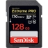 SanDisk 128GB Extreme Pro SDXC Card - UHS-I, Class10, V30, U3, Up to 170MB/s