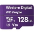 Western Digital WDD128G1P0A Purple MicroSD Card - 128GB  Up to 100MB/s Read,  Up to 60MB/s Write